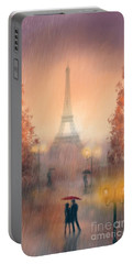 A Rainy Evening In Paris Portable Battery Charger