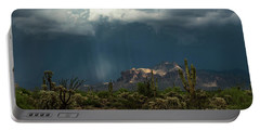 Portable Battery Charger featuring the photograph A Rainy Evening In The Superstitions  by Saija Lehtonen