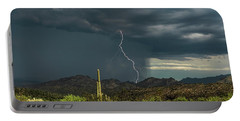 Portable Battery Charger featuring the photograph A Rainy Sonoran Day  by Saija Lehtonen