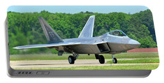 A Raptor Taxiing Back To The Ramp Portable Battery Charger