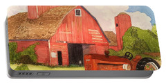 A Red Barn Portable Battery Charger by Rand Swift