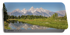 A Reflection Of The Tetons Portable Battery Charger