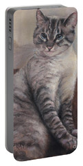 Portable Battery Charger featuring the painting A Regal Pose by Wendy Ray