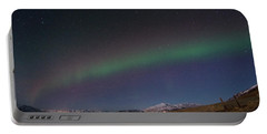 A Ribbon Of Northern Lights Portable Battery Charger