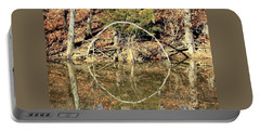 A Ring On The Pond In Fall Portable Battery Charger