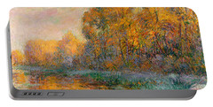 A River In Autumn Portable Battery Charger