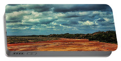 Portable Battery Charger featuring the photograph A River Of Red Sand by Diana Mary Sharpton