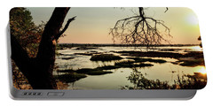 A River Sunset In Botswana Portable Battery Charger