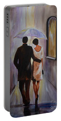A Romantic Stroll Portable Battery Charger