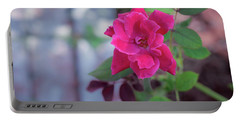 A Rose And A Hard Place Portable Battery Charger by Stefanie Silva