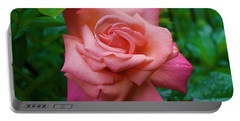 A Rose In Spring Portable Battery Charger