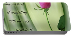 A Rose Portable Battery Charger by Nina Bradica