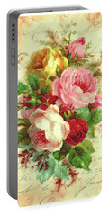 A Rose Speaks Of Love Portable Battery Charger by Tina LeCour