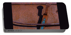 Portable Battery Charger featuring the photograph A Rusted Development II by Paul Wear