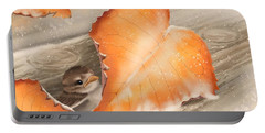 Portable Battery Charger featuring the painting A Safe Place by Veronica Minozzi