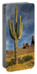 Portable Battery Charger featuring the photograph A Saguaro In Spring by James Eddy