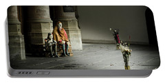Portable Battery Charger featuring the photograph A Scene In Oude Kerk Amsterdam by RicardMN Photography