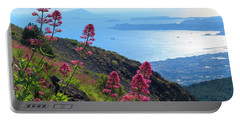 A Scenic View From Mount Vesuvius Portable Battery Charger