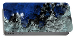 Portable Battery Charger featuring the digital art A Sea Storm In My Heart by Silvia Ganora