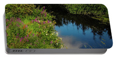 Portable Battery Charger featuring the photograph A Serene Scene In The Magical Irish Countryside by James Truett