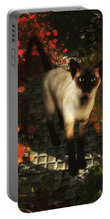 A Siamese Cat Is Looking  Portable Battery Charger