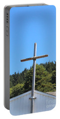 Portable Battery Charger featuring the photograph A Simple Cross by Marie Neder