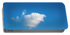 Portable Battery Charger featuring the photograph A Single Cloud by Eric Christopher Jackson
