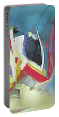 Portable Battery Charger featuring the painting A Single Strand by John Jr Gholson