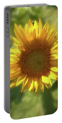 A Single Sunflower Showing It's Beautiful Yellow Color Portable Battery Charger