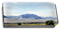 Portable Battery Charger featuring the painting A Sleeping Giant by Susan Kinney