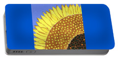 Portable Battery Charger featuring the painting A Slice Of Sunflower by Deborah Boyd