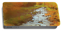 A Small Stream Bright Fall Color. Portable Battery Charger
