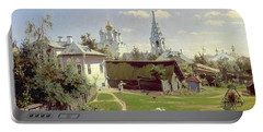 A Small Yard In Moscow Portable Battery Charger by Vasilij Dmitrievich Polenov