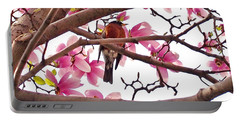 A Songbird In The Magnolia Tree - Square Portable Battery Charger