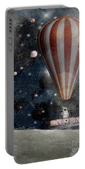 Portable Battery Charger featuring the painting A Space Adventure by Bri B