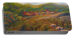 Portable Battery Charger featuring the painting A Special Place by Claire Bull