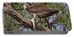 Portable Battery Charger featuring the photograph A Speckled Trout Breakfast by HH Photography of Florida