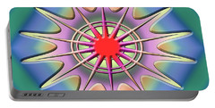 Portable Battery Charger featuring the digital art A Splash Of Color 2 by Chuck Staley