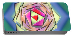 Portable Battery Charger featuring the digital art A Splash Of Color 3 by Chuck Staley