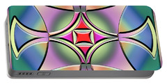 Portable Battery Charger featuring the digital art A Splash Of Color 4 by Chuck Staley