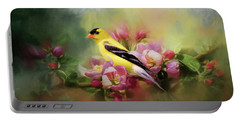 A Splash Of Joy Bird Art Portable Battery Charger by Jai Johnson