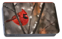 Portable Battery Charger featuring the digital art A Spot Of Color by Lois Bryan