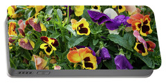 A Spread Of Pansies Portable Battery Charger
