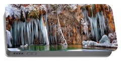 A Spring That Knows No Summer. - Hanging Lake Print Portable Battery Charger