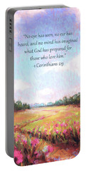 A Spring To Remember With Bible Verse Portable Battery Charger