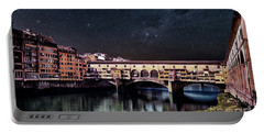 A Starry Starry Night In Florence, Italy Portable Battery Charger