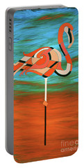 A Straight Up Flamingo Portable Battery Charger