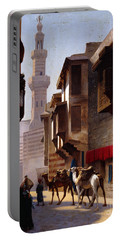 A Street In Cairo Portable Battery Charger by Jean Leon Gerome