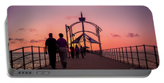 A Stroll Along Sunset Pier Portable Battery Charger