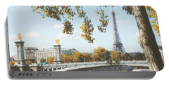 Portable Battery Charger featuring the photograph A Stroll Along The River Seine In Paris by Ivy Ho